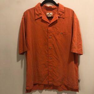 Woolrich casual button down shirt orange checkered
